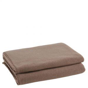 zoeppritz weiche soft fleece decke 220x240 rauch braun