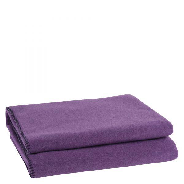 zoeppritz weiche soft fleece decke 110x150 aubergine lila