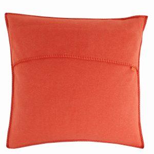 zoeppritz weicher soft fleece kissenbezug 40x40 papaya orange