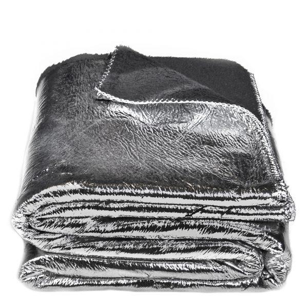 crack zoeppritz  decke 145x200 silber grau