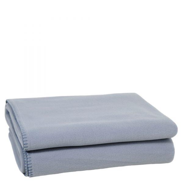 zoeppritz weiche soft fleece decke 220x240 wasser blau