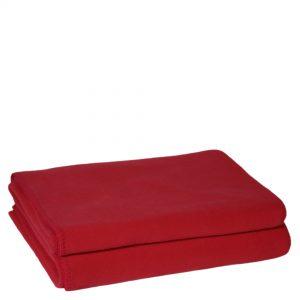 zoeppritz weiche soft fleece decke 220x240 geranien rot