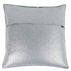soft star zoeppritz viscose kissenbezug 50x50 silber grau