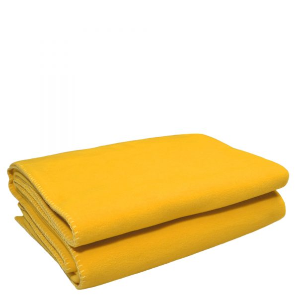 zoeppritz weiche soft fleece decke 160x200 curry gelb