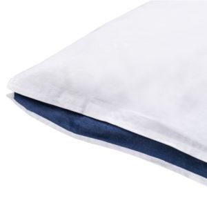 zoeppritz Absolute Kissenbezug, Farbe weiss mit blau, Material Baumwolle Perkal in Groesse 40x60