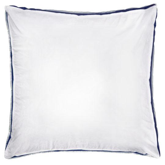 zoeppritz Absolute Kissenbezug, Farbe weiss mit blau, Material Baumwolle Perkal in Groesse 65x65