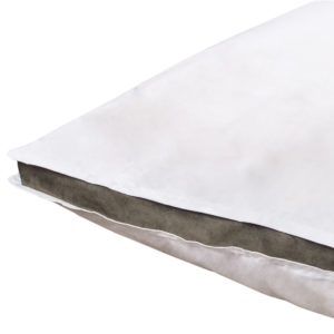 zoeppritz Absolute Kissenbezug, Farbe weiss mit braun, Material Baumwolle Perkal in Groesse 50x70