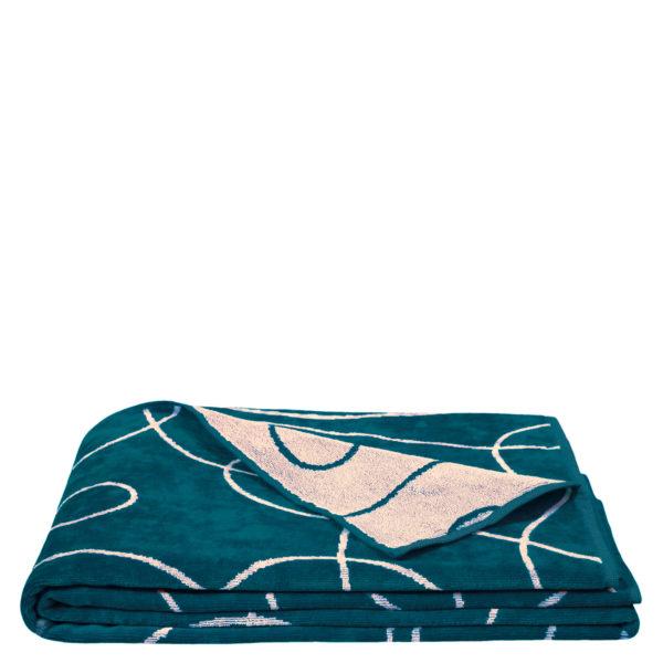 zoeppritz Beach1828 Strandtuch Duschtuch, Farbe blau gemustert, Material Baumwolle, in Groesse 100x190