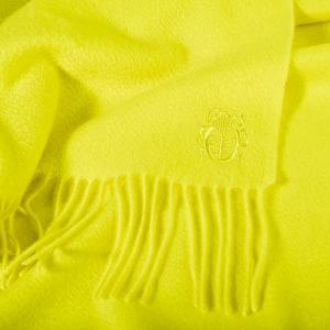 zoeppritz Imagine Plaid, Zironengelb, Material Cashmere in Groesse 130x180