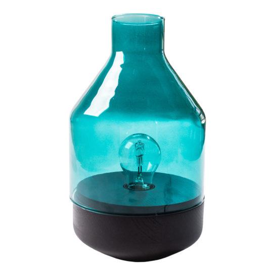 zoeppritz Tischlampe Glas Belly, hellblau