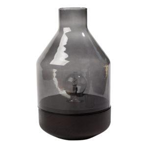 zoeppritz Tischlampe Glas Belly, grau