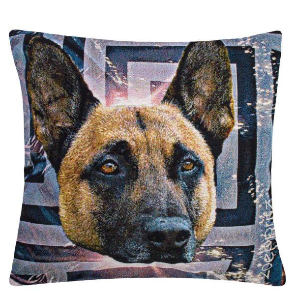 zoeppritz Grotesque Small Shepherd Kissenbezug, gemustert, Hund, Material Baumwolle in Groesse 45x45