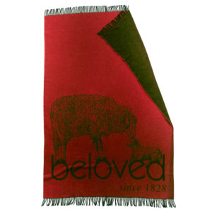 zoeppritz bah beloved Decke, Rostbraun Rot, Material Schurwolle in Groesse 145x230