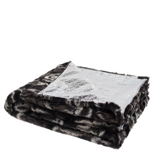 zoeppritz Reborn Crack Plaid, silber, Material Polyester Kunstfell in Groesse 140x200