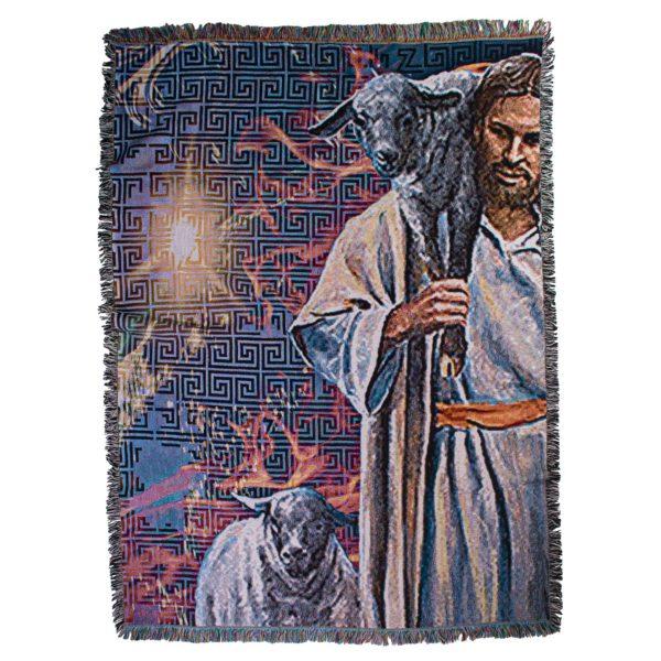 zoeppritz Absurd The Good Shepherd Decke, gemustert, Material Baumwolle in Groesse 140x180