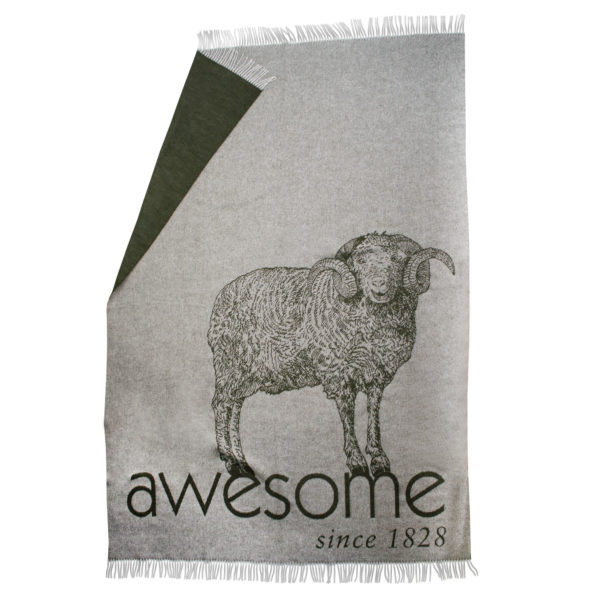 zoeppritz bah awesome Decke, Hell Grau, Material Schurwolle in Groesse 145x230