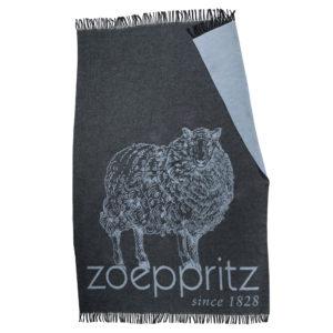 zoeppritz bah zoeppritz Decke, Anthrazit Schwarz, Material Schurwolle in Groesse 145x230