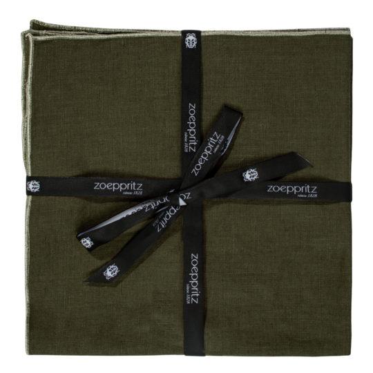 zoeppritz Stay Serviette, Farbe dunkelgruen, Material Leinen in Groesse 40x40