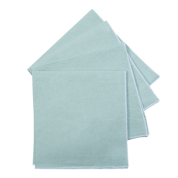 zoeppritz Stay Serviette, Farbe hellblau, Material Leinen in Groesse 40x40