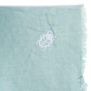 zoeppritz Stay Tischset Platzdecke, Farbe hellblau, Material Leinen in Groesse 35x50