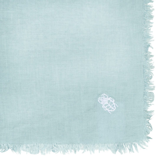 zoeppritz Stay Tischdecke, Farbe hellblau, Material Leinen in Groesse 130x170