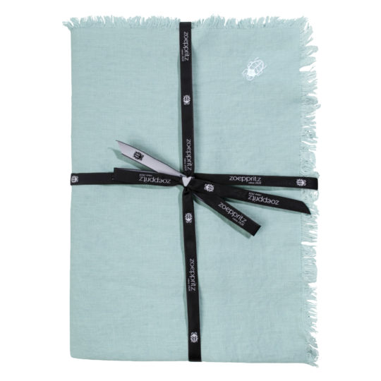 zoeppritz Stay Tischdecke, Farbe hellblau, Material Leinen in Groesse 145x250