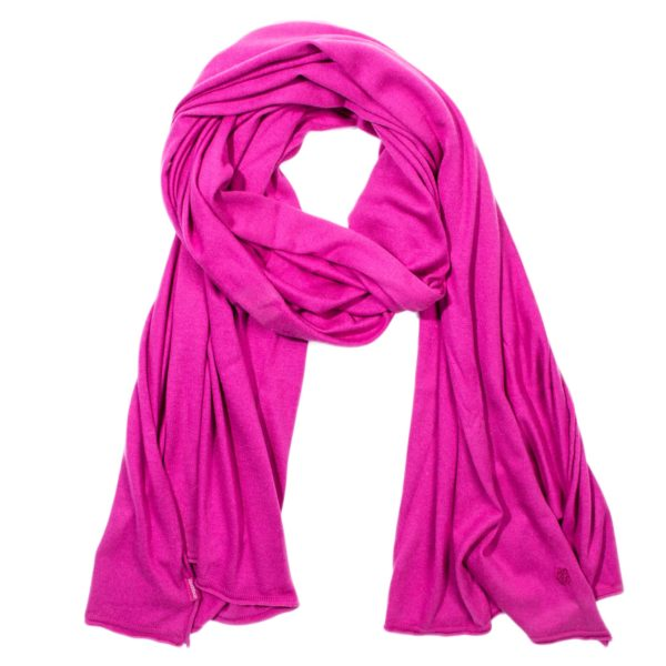 zoeppritz Forever Schal, Farbe pink rosa rot, Material Seide Cashmere in Groesse 70x200