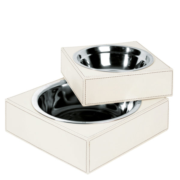 zoeppritz Shipshape Box Hundenapf creme, Material MDF Kunstleder