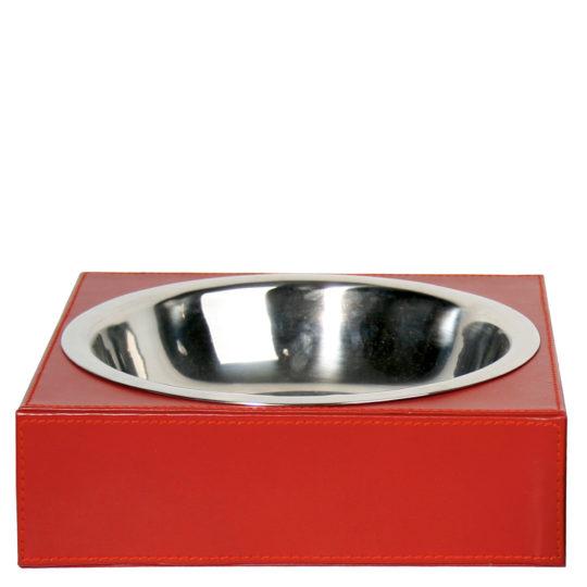 zoeppritz Shipshape Box Hundenapf rot, Material MDF Kunstleder