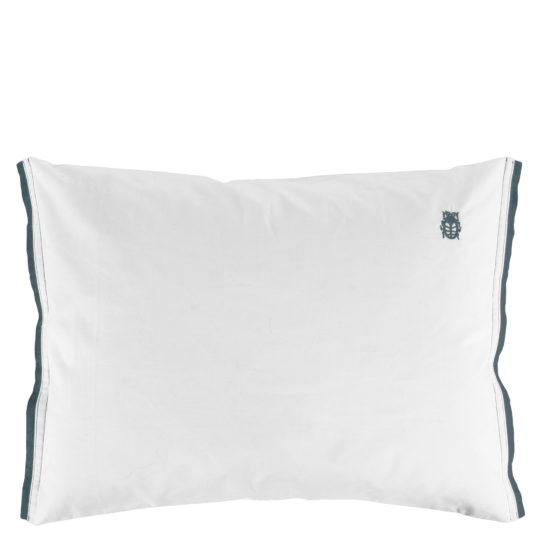 zoeppritz White Kissenbezug, Farbe weiss mit grau, Material Baumwolle Perkal in Groesse 35x40