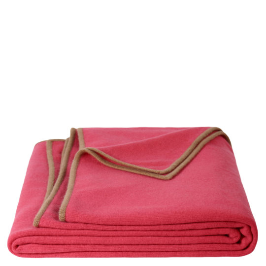 zoeppritz Edition 15/01 Decke, Farbe rot braun, Material Cashmere in Groesse 150x200