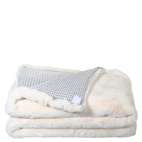 zoeppritz Ice Bear Mesh Decke, Farbe grau weiss, Material Schurwolle Polyester, in Groesse 30x50
