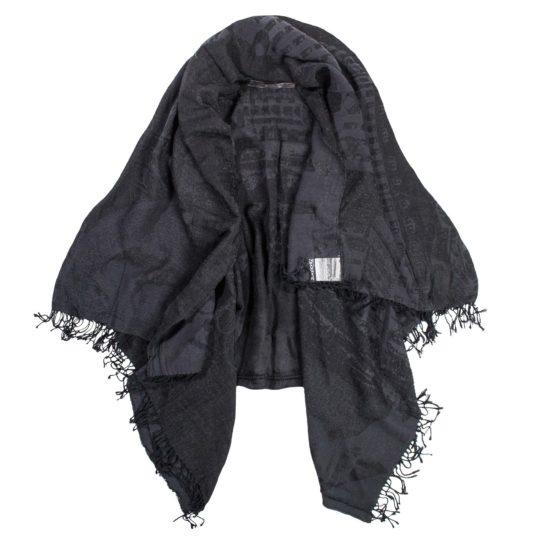zoeppritz History by night cape, Farbe schwarz, Material Baumwolle Viskose, onesize