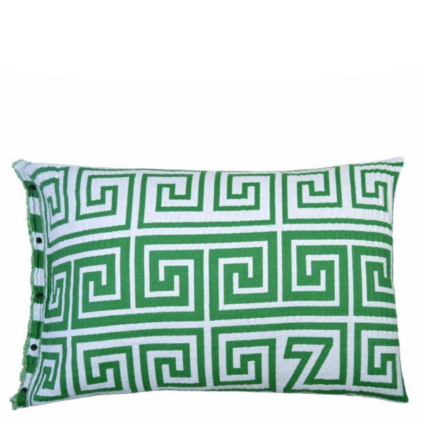 zoeppritz Leg Kissenhuelle, Farbe gruen, Material Baumwolle, in Groesse 50x70