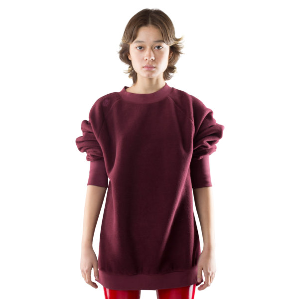 zoeppritz Soft Sweater, Farbe weinrot, Material Fleece in Groesse M
