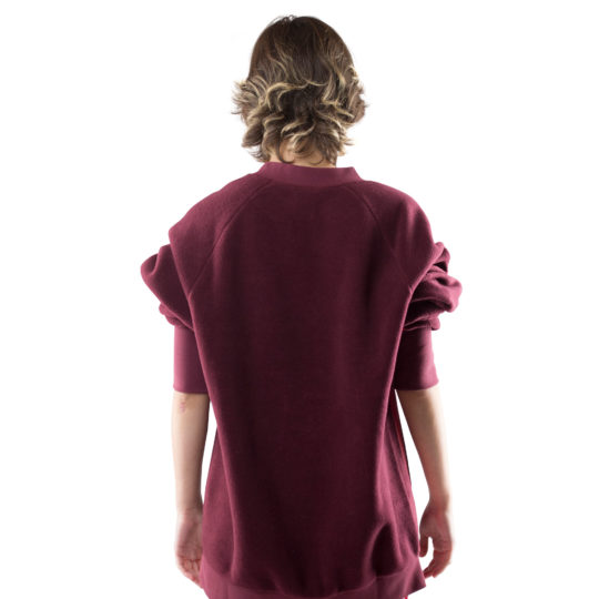 zoeppritz Soft Sweater, Farbe weinrot, Material Fleece in Groesse S