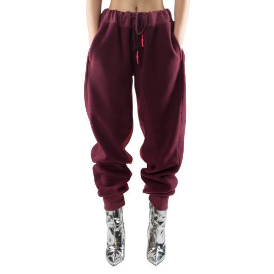 zoeppritz Soft Pants mit Bund, Farbe weinrot, Material Fleece in Groesse S