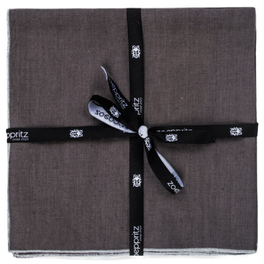 zoeppritz Stay Serviette, Farbe anthrazit, Material Leinen in Groesse 40x40