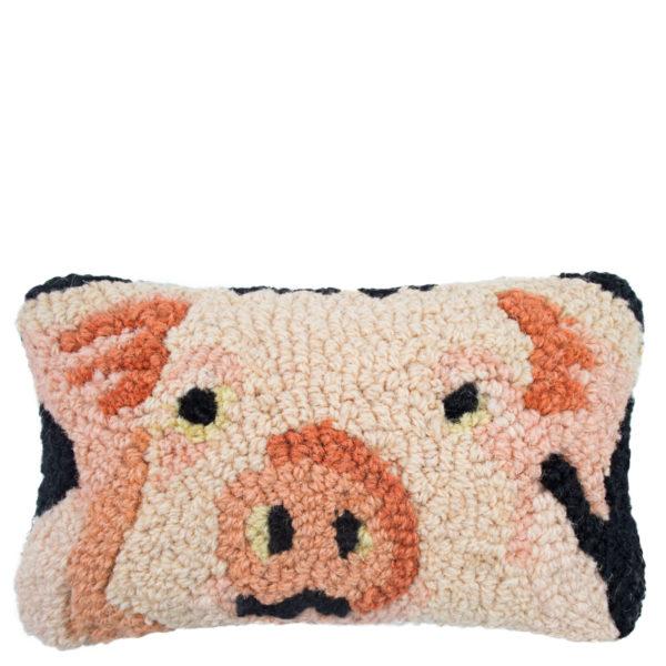 Chandler 4 Corner Pig Kissenbezug, handgeknuepft, Muster, Material Wolle und Baumwolle, in Groesse 20x30