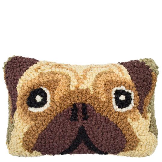 Chandler 4 Corner Pug Kissenbezug, handgeknuepft, Muster, Material Wolle und Baumwolle, in Groesse 20x30