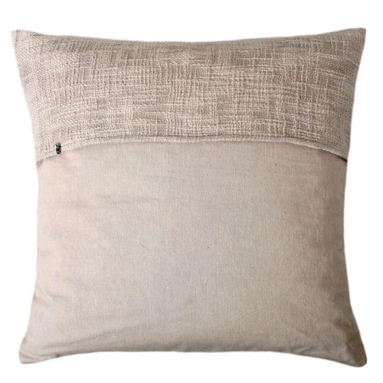 zoeppritz Plus Kissenhuelle, Farbe beige, Material Baumwolle Leinen in Groesse 50x50