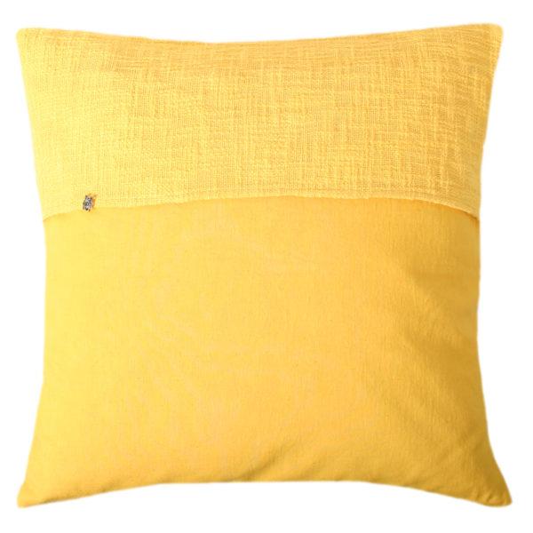 zoeppritz Plus Kissenhuelle, Farbe gelb, Material Baumwolle Leinen in Groesse 50x50