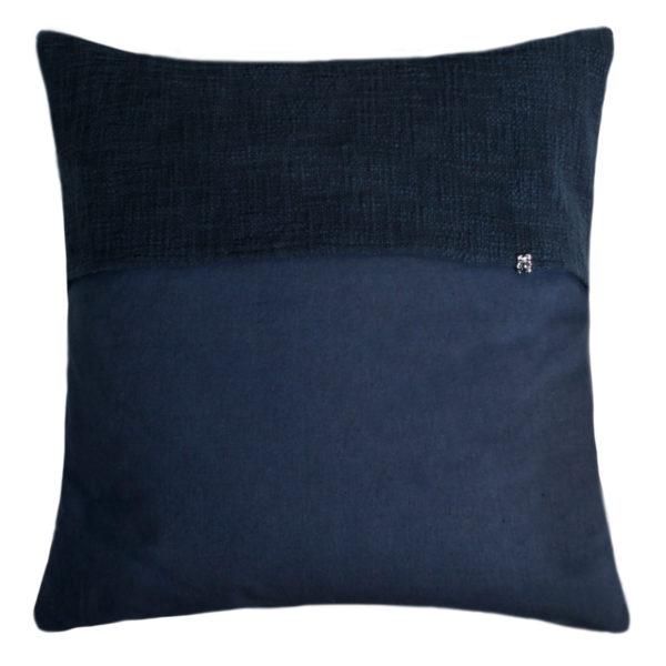 zoeppritz Plus Kissenhuelle, Farbe dunkelblau, Material Baumwolle Leinen in Groesse 50x50