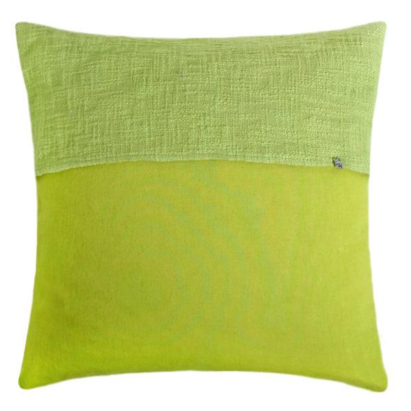 zoeppritz Plus Kissenhuelle, Farbe hellgruen, Material Baumwolle Leinen in Groesse 50x50