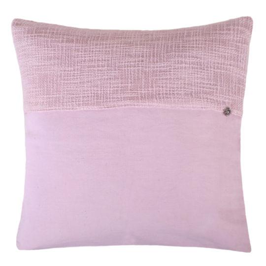 zoeppritz Plus Kissenhuelle, Farbe rosa, Material Baumwolle Leinen in Groesse 50x50