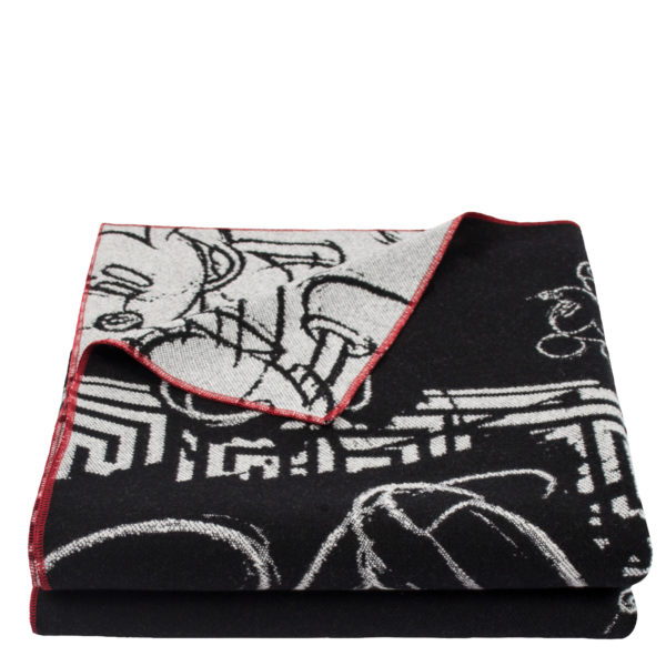 zoeppritz Mickey Heroine Decke Disney schwarz, Material Merinowolle Cashmere in Groesse 145x230