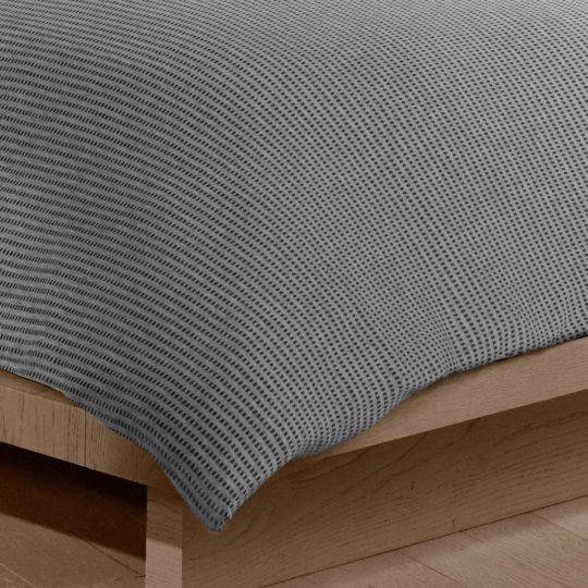 Calvin Klein Home Bettgarnitur Set Bettdecke Kopfkissen JARED, Material Baumwolle Modal, anthrazit