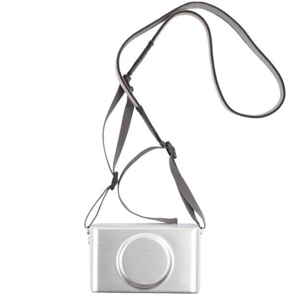 Camera Clutch silber