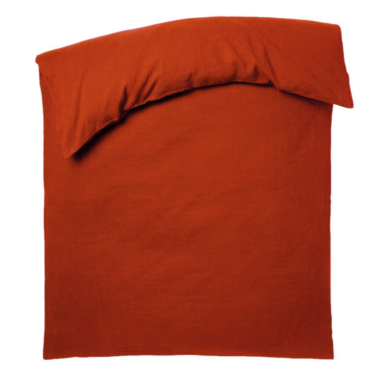 Zoeppritz Leinen Spannbettlaken Stay, orange, Material Leinen in Groesse 200x200-20