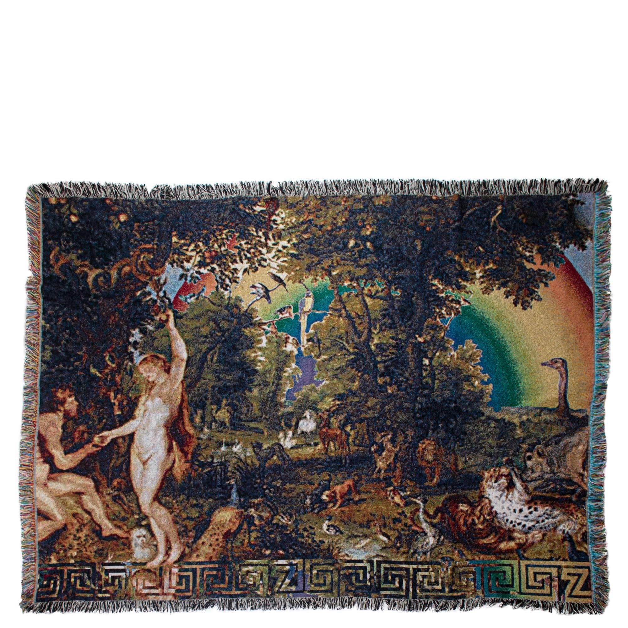 Zoeppritz Baumwolldecke in Multicolor-Webtechnik 331 Absurd Paradise, bunt, Material Baumwolle in Groesse 140x180
